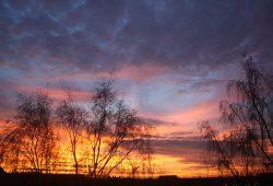 Für Wetterliebhaber gab's auch ein paar schöne Sonnenaufgänge zu genießen. Foto: Ralf Julke