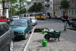 Pflanzaktion an der Könneritzstraße. Foto: Ralf Julke