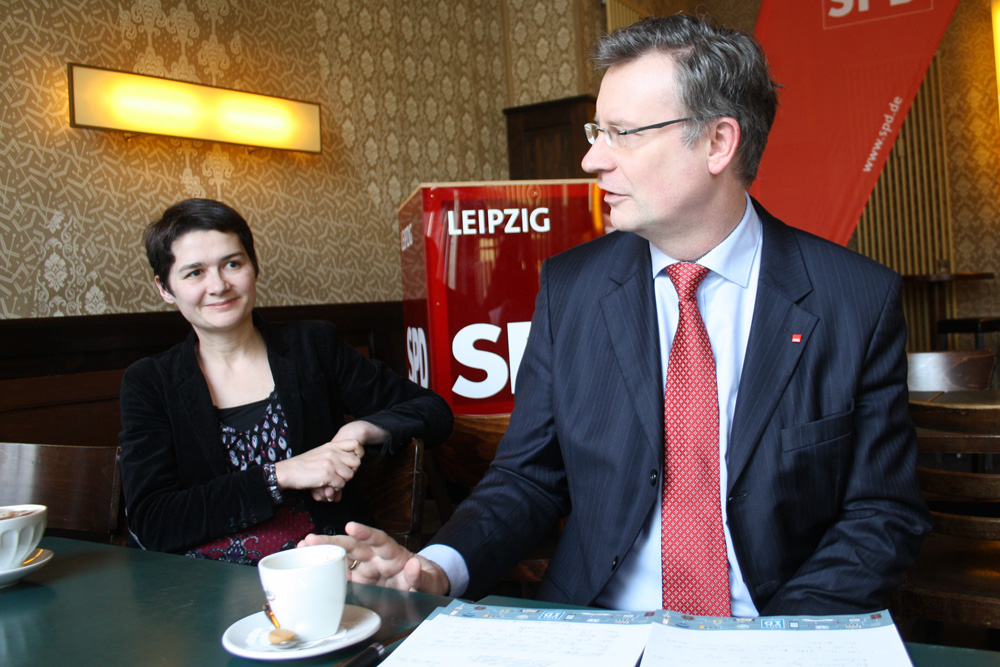 Daniela Kolbe und Jens Katzek. Foto: Ralf Julke