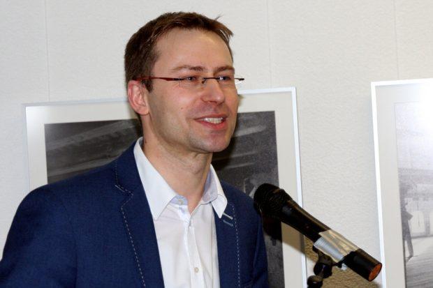 """Holger Mann bei der Eröffnung des """"Jedermanns"""". Foto: Michael Freitag"""