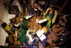Notenspur-Nacht der Hausmusik in Leutzsch – von oben. Foto: Bärbel Fischer