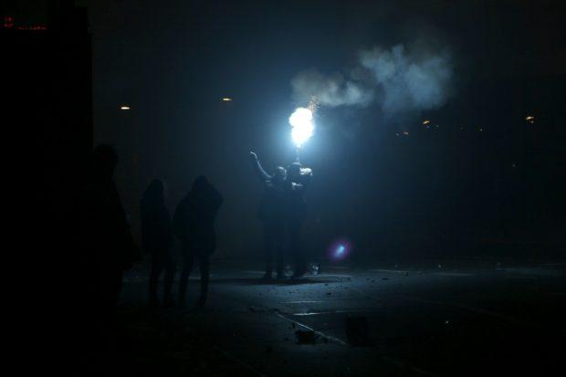 Party mit Bengalischem Feuer. Foto: Alexander Böhm