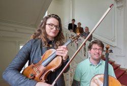 Auf den Telemann-Salon eingestimmt – Lydia Dobler und Axel von Huene im Rektoratsgebäude der Universität Leipzig, Foto: Daniel Reiche