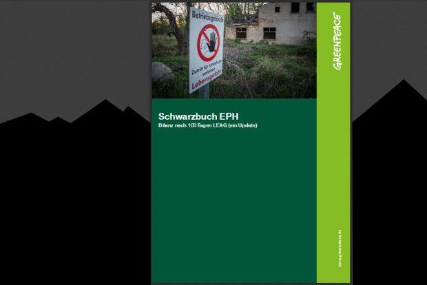 Schwarzbuch EPH. Cover: Greenpeace