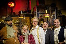 Die Kneipiersfamilie: August Geyler, Susanne Bolf, Claudius Bruns, Frank Berger, Armin Zarbock (von links). Foto: Armin Zarbock