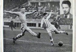 Historische Spielszene aus dem Pokalfinale des VfB Leipzig gegen Schalke 04 im Berliner Olympiastadion. Quelle: privat