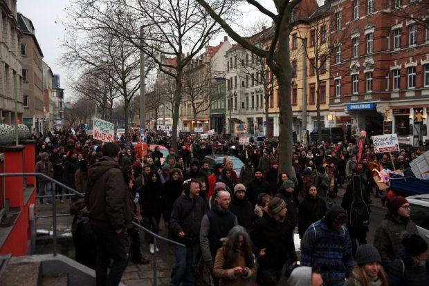 1.000 Teilnehmer auf der Heine-Straße. Foto: L-IZ.de