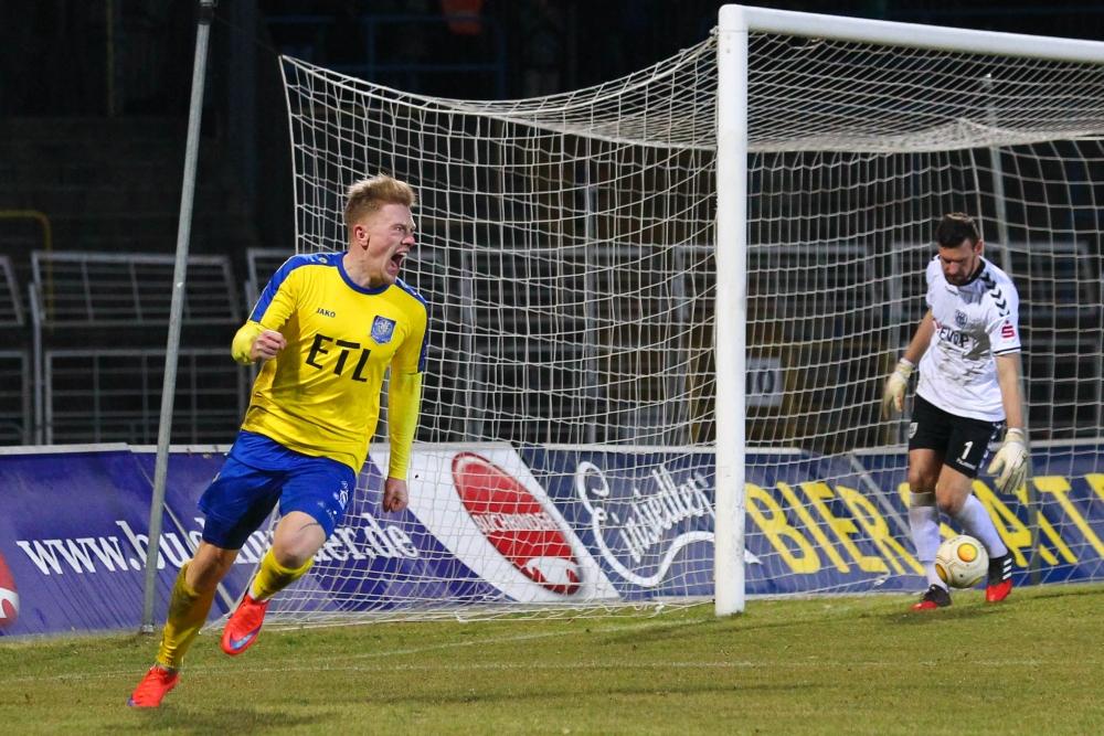 Maik Georgi sorgte mit seinem 2:0 für die Entscheidung. Foto: Jan Kaefer