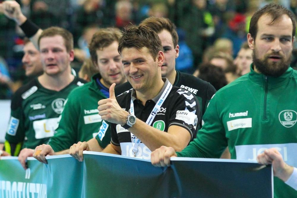 DHfK-Coach Christian Prokop wird im Sommer DHB-Nationaltrainer. Foto: Jan Kaefer (Archiv)