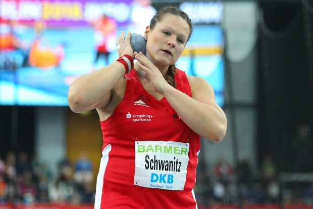 Schwanger und siegreich: Christina Schwanitz (LV 90 Erzgebirge) wird Deutscher Meister und bringt im Juli ihr erstes Kind zur Welt. Foto: Jan Kaefer