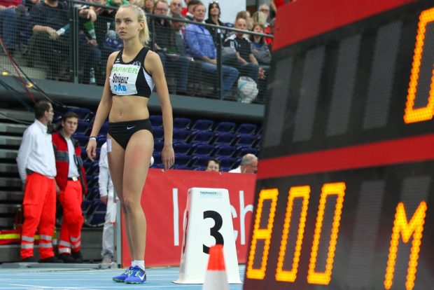 Linda-Elisabeth Strigenz (SC DHfK) war mit ihrem 800m-Vorlauf nicht wirklich zufrieden, kann am Sonntag im Finale aber noch einmal angreifen. Foto: Jan Kaefer