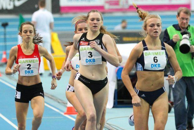 Ronja Böhrer (SC DHfK/ mi.) musste sich nach dem 1.500m-Vorlauf aus dem Wettkampf verabschieden. Foto: Jan Kaefer