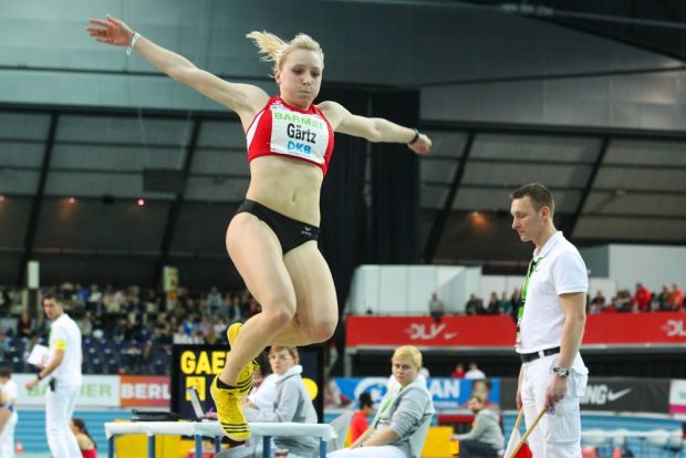 Annika Gärtz (LV 90 Erzgebirge) sprang auf Rang Sieben. Foto: Jan Kaefer
