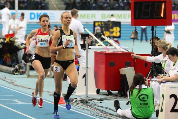 Linda-Elisabeth Strigenz (SC DHfK Leipzig) ließ im 800m-Finale nur Gina Daubenfeld (Schorndorf) hinter sich und war mit ihrer Leistung nicht zufrieden. Foto: Jan Kaefer