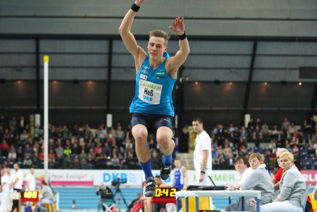 Dreispringer Max Heß (Chemnitz) wurde seiner Favoritenrolle gerecht und siegte deutlich. Foto: Jan Kaefer