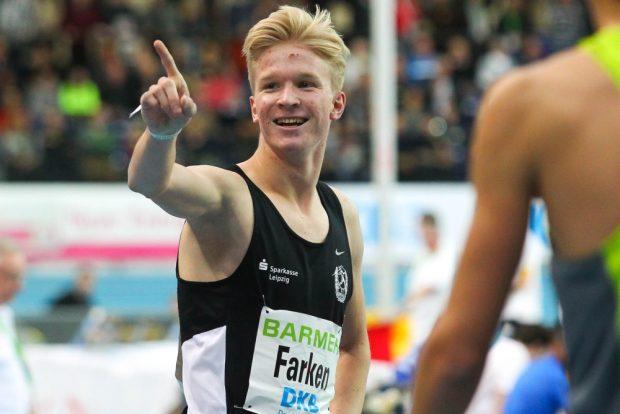 Robert Farken (SC DHfK Leipzig) hielt dem Druck als Jahresschnellster über 800m stand und holte im Heimspiel Gold. Foto: Jan Kaefer