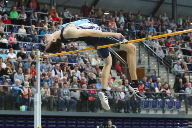 Tim Schenker (Chemnitz) gewann Bronze im Hochsprung. Foto: Jan Kaefer