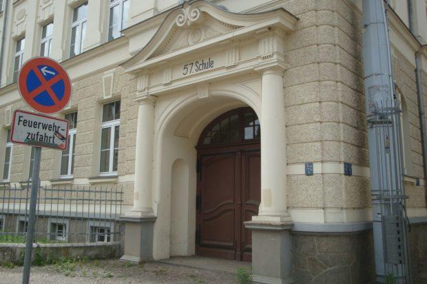 Die 57. Schule in Leutzsch. Foto: Gernot Borriss