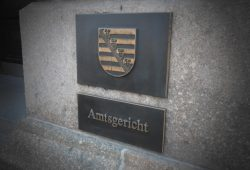 Am Amtsgericht Leipzig. Foto: Lucas Böhme