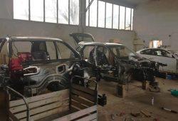 Ausgeschlachtete Fahrzeugkarossen. Foto: LKA