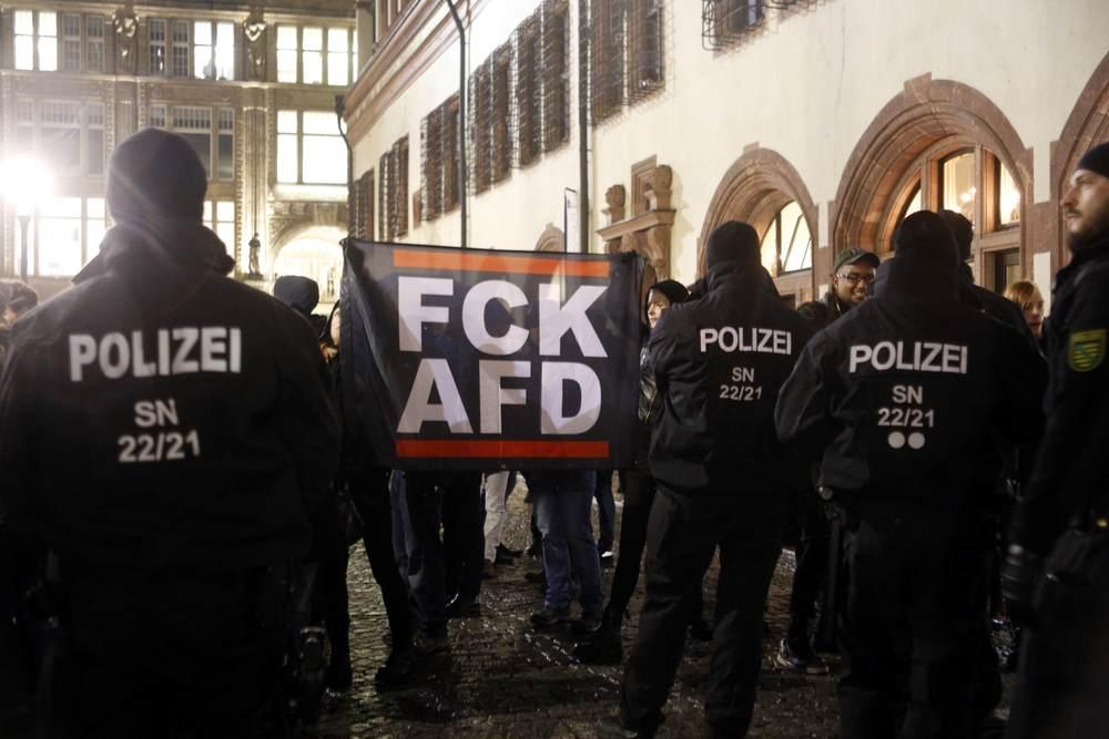 Letztlich ein entspannter Einsatz der Polizei. Foto: Alexander Böhm