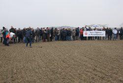 Protest am 9. Februar auf dem Acker bei Rückmarsdorf. Foto: BI Rückmarsdorf