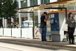 Ticketautomat am Connewitzer Kreuz. Foto: Ralf Julke