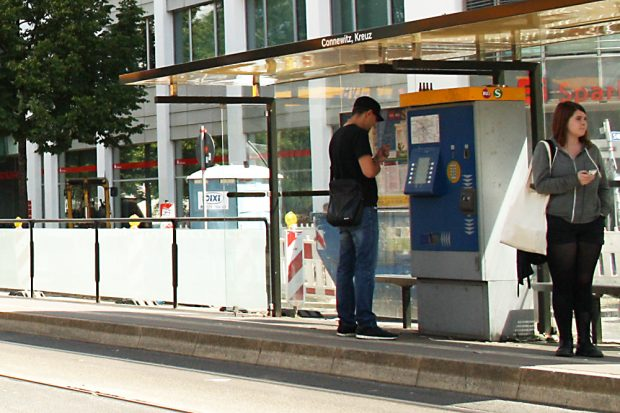 Ticketautomat am Connewitzer Kreuz. Foto: Ralf Julke