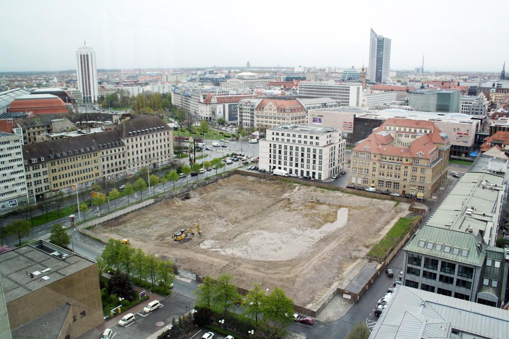Das Baufeld für die SAB-Niederlassung. Archivfoto: Ralf Julke