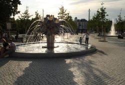 Brunnen auf dem Richard-Wagner-Platz. Foto: Ralf Julke