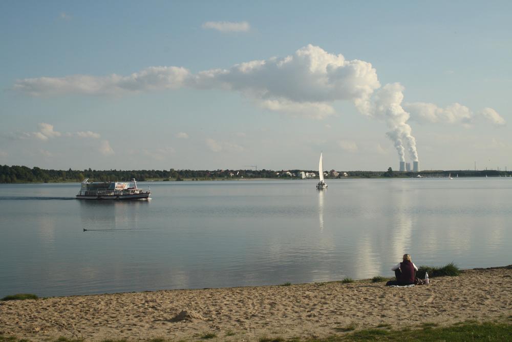 Blick über den Cospudener See. Foto: Ralf Julke