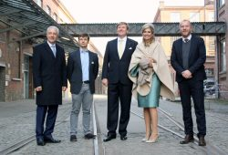 vlnr Stanislaw Tillich, Eric Weber, Willem Aleander, Maxima und Betram Schulze. Foto: HHL