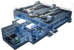 So sieht das erste Modul im Inneren aus. Foto: ICTroom Company