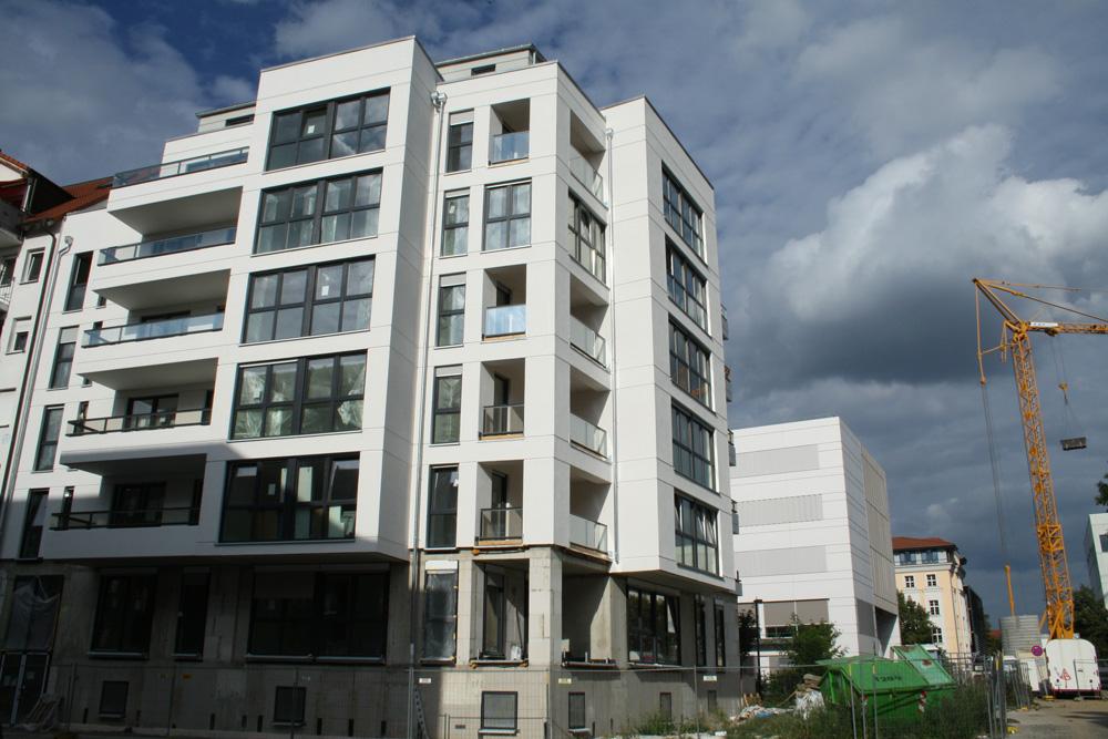 Wohnungsneubau in Connewitz. Foto: Ralf Julke