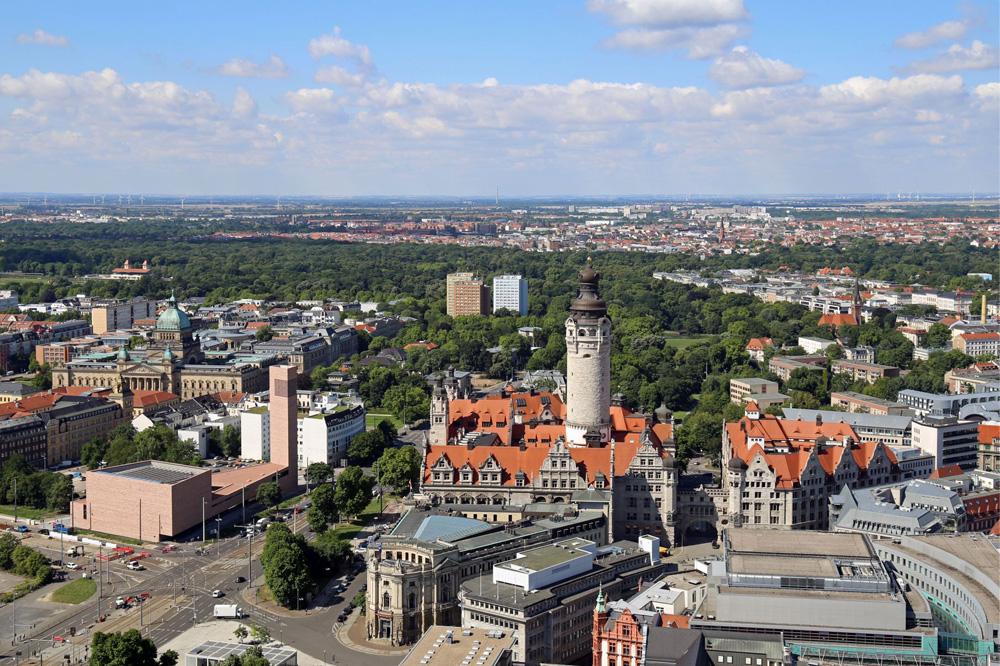 Leipzig-Panorama. Foto: Andreas Schmidt, LTM
