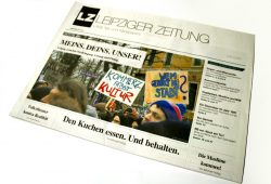 Titelseite der LZ Nr. 40: Meins. Deins. Unser. Foto: Ralf Julke