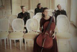 Das Lipsia Quartett im Festsaal des Gohliser Schlösschens. Foto: Freundeskreis Gohliser Schlösschen