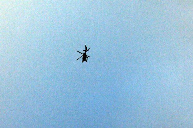 Mal wieder am Himmel - auch die Polizei war da. Foto: L-IZ.de