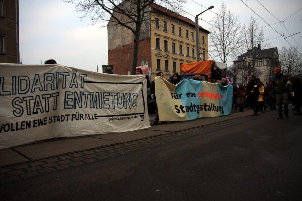 Partizipation gefordert. Auch die Gruppe Prisma war dabei. Foto: L-IZ.de