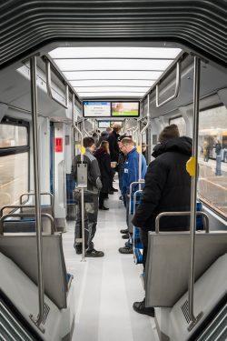 Der Fahrgastraum der neuen XL. Foto: LWB