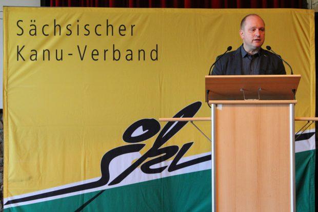 Präsident Arend Riegel bei der Ansprache zum SKT2017. Foto: Ralf Strenge