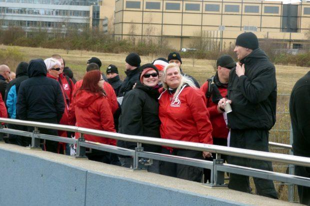 Auch auf der rechten Demo waren Frauen am Start. Foto: L-IZ.de