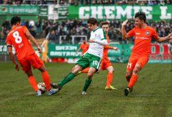 Das emotionale Spiel endete torlos. Foto: BSG Chemie Leipzig/Christian Donner