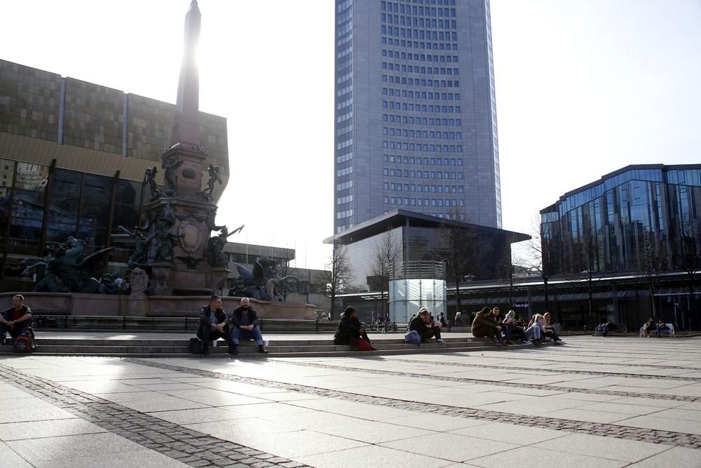 Dem Augustusplatz blieb die Bürgerbewegung Leipzig erspart. Foto: Alexander Böhm