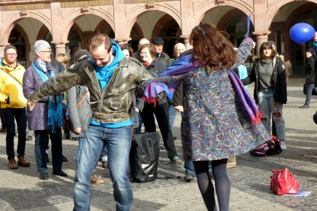 Ein Tänzchen wagen. Foto: Lucas Böhme