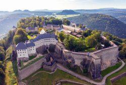 Festung Koenigstein. Foto: Procopter
