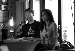 Christian Bosse und Ulrike Gastmann bei der Lesung in der Vodkaria. Foto: L-IZ.de
