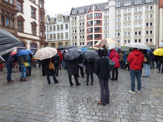 Geschätzt 200-250 Teilnehmer trotzten dem Regen. Foto: Lucas Böhme