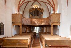 Scheibe-Orgel in der Kirche Zschortau. Foto: Daniel Senf
