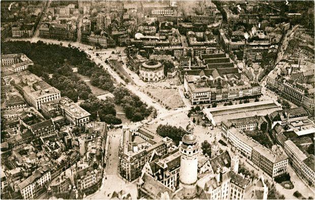 Leipzig von oben um 1927. Bild: Pro Leipzig Verlag